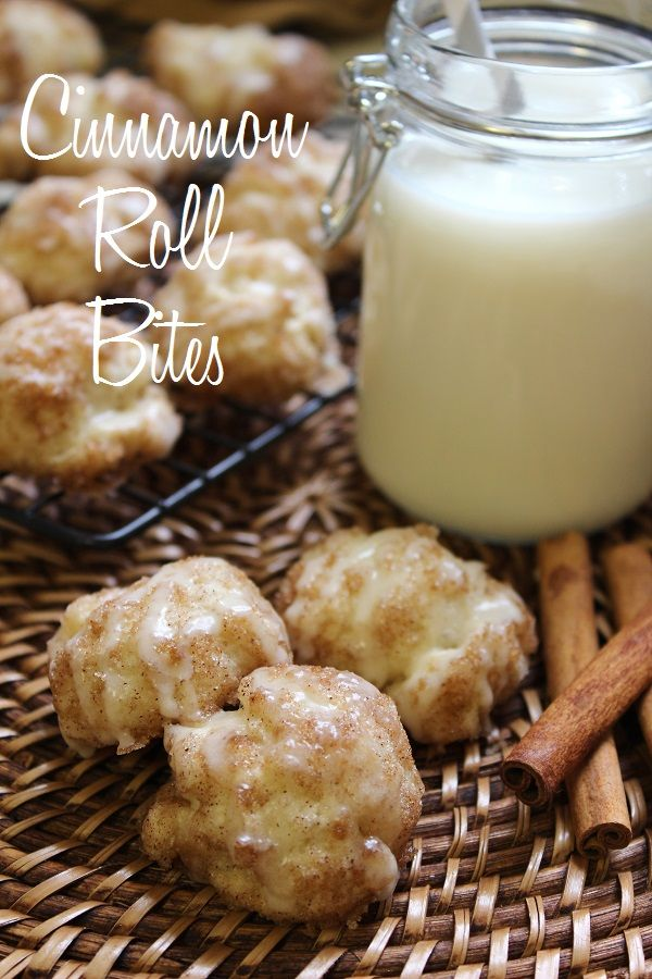 All the tasty goodness of a cinnamon roll, wrapped up into one cute little bite. http://www.highheelsandgrills.com/2013/04/cinnamon-roll-bites.html