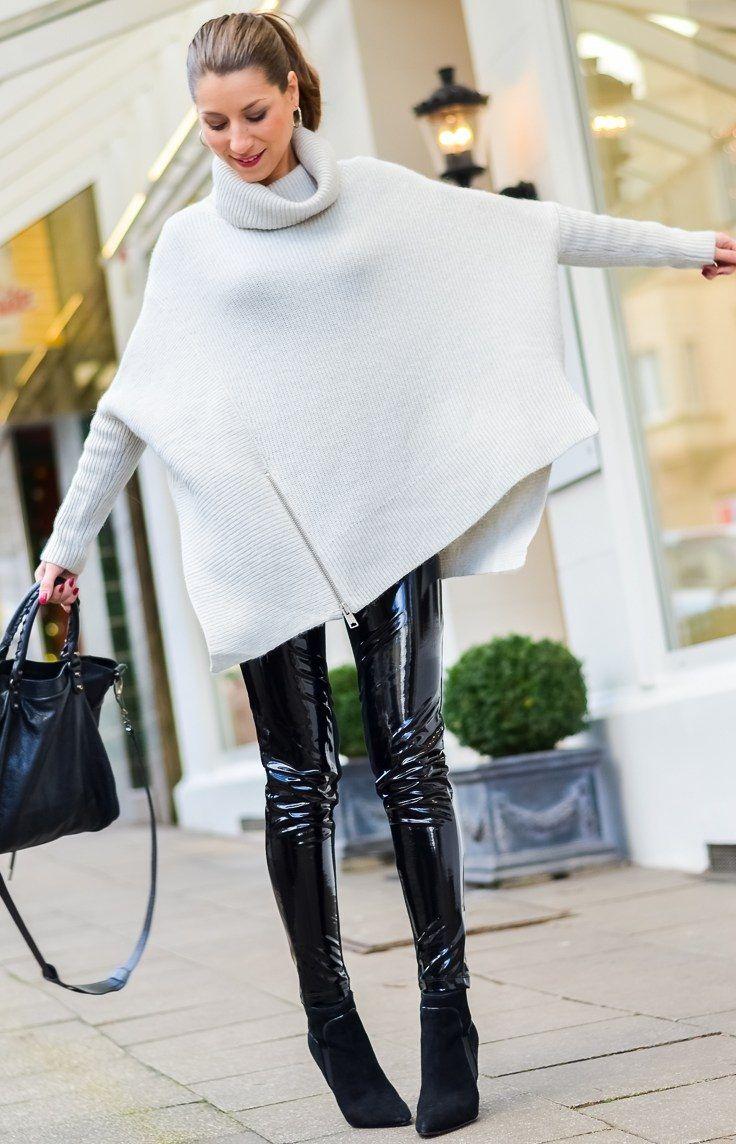 вязаная мода 2016, модные вязаные вещи 2016, свободная объёмная туника (фото 6)