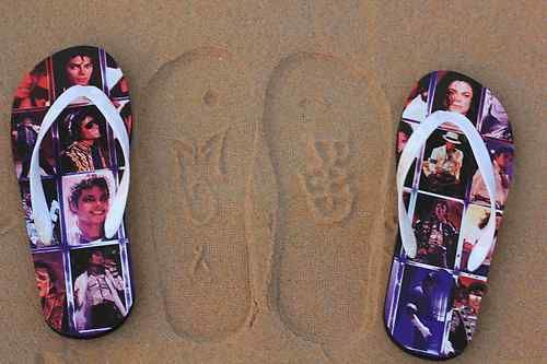Michael Jackson King of Pop  beach Slippers Lettering MJ Bad  logo Collections | eBay