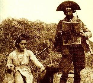 """Lampião and Maria Bonita. """"Captain"""" Virgulino Ferreira da Silva, better known as…"""