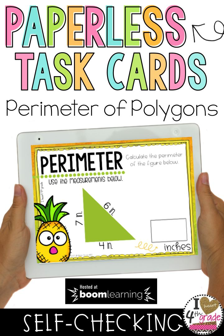 Perimeter of Polygons | Teaching Perimeter | Perimeter Lessons | Perimeter Ideas | Perimeter math centers | This set of digital task cards is perfect for students learning how to find the perimeter of regular polygons. ($)