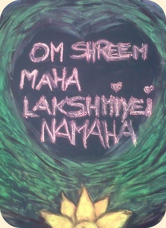 """""""Om Shreem Mahalakshmiyei Namaha"""" – Abundance Mantra. Meaning: """"Salutations to that heart centered and great Lakshmi. May you pour forth your blessings upon me."""" OR """"Om and salutations to she who manifests every kind of abundance."""" This is the quintessential Sanskrit mantra for abundance and prosperity! Shrim is the seed sound for abundance along with the Goddess Lakshmi. Lakshmi is the Hindu goddess of wealth, love, prosperity (both material and spiritual), fortune, and the embodiment of…"""