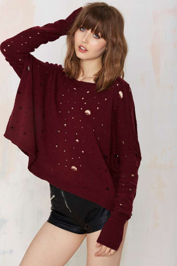 Nasty Gal Begging for Thread Knit Sweater - Pullover | Tops