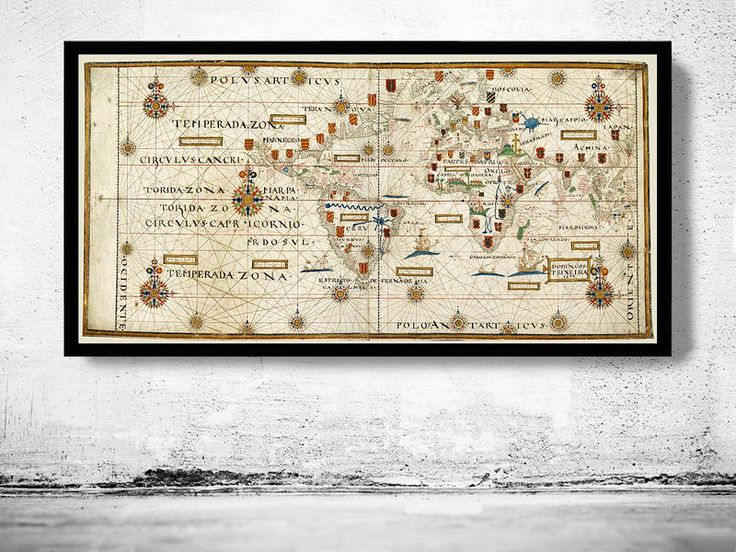 Old World Map Portuguese Discoveries 1573 - product image