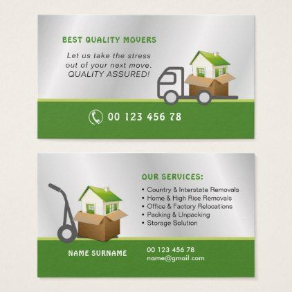 Movers removals service business card  $28.45  by BCards_by_Inese  - cyo customize personalize unique diy idea
