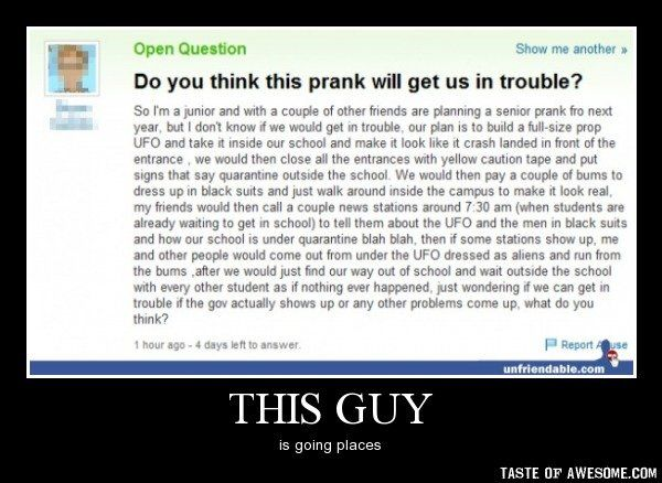 Hilarious Senior Pranks | ... of other friends / q&a :: funny pictures :: damotivation :: prank
