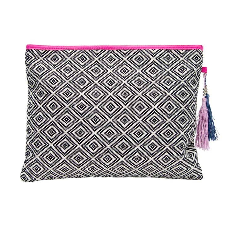 The Design Gift Shop - ANNABEL TRENDS | Aztec Diamond Clutch | Black, $44.90 (http://www.thedesigngiftshop.com/annabel-trends-aztec-diamond-clutch-black/)