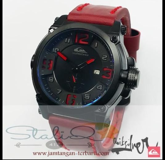 QUICKSILVER LEATHER RED - Jam Tangan Terbaru | Jam Tangan Keren