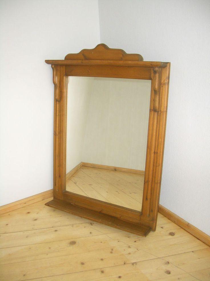 Fabulous Wandspiegel mit Ablage Spiegel Garderobe Holz Rahmen Bauernm bel Landhaus in M bel u Wohnen Dekoration