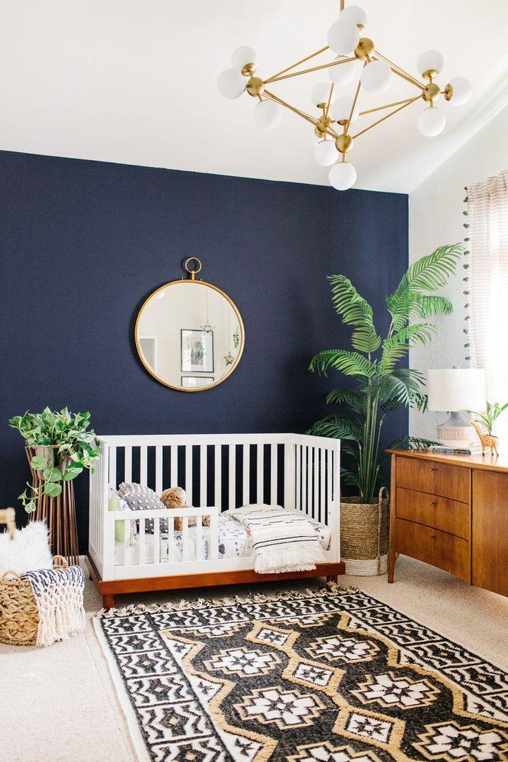 modern nursery, mid century modern nursery, modern boho ...