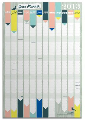 I'm looking for a 2013 Wall Year Planner : This Lollipop Designs model is the only nice one I have found so far.