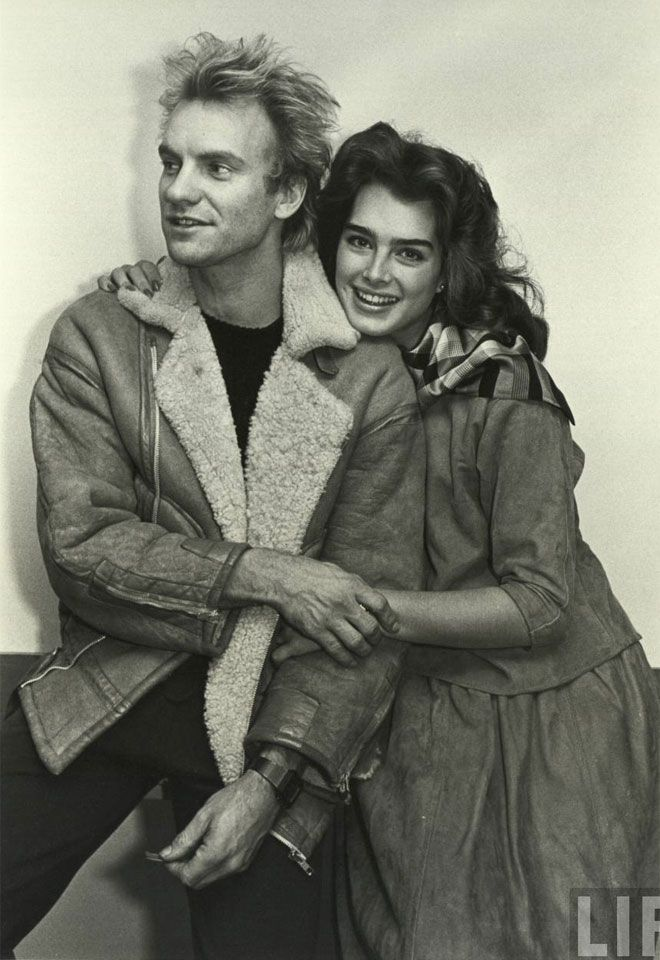 Young Sting & young Brooke Shields.