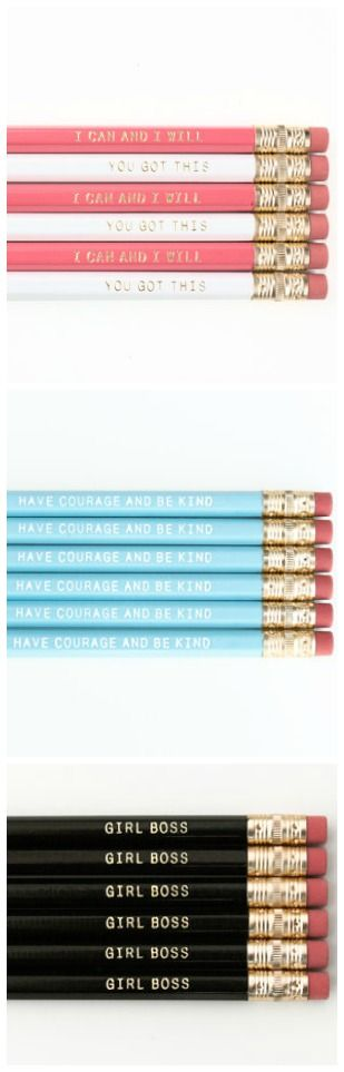 Personalized Pencils- what a great party favor or gift idea!! These are so cute! {aff}