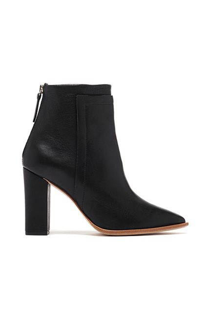 """I never seem to tire of adding black booties to my closet, and these are the slickest ones I've seen all year. The dangerous-looking pointy toe, how good they'd look with my skinny jeans, the fact that they're on sale: There's literally nothing about these I don't love. Anyone wanna make my year?"" — Leeann Duggan, style features editor"