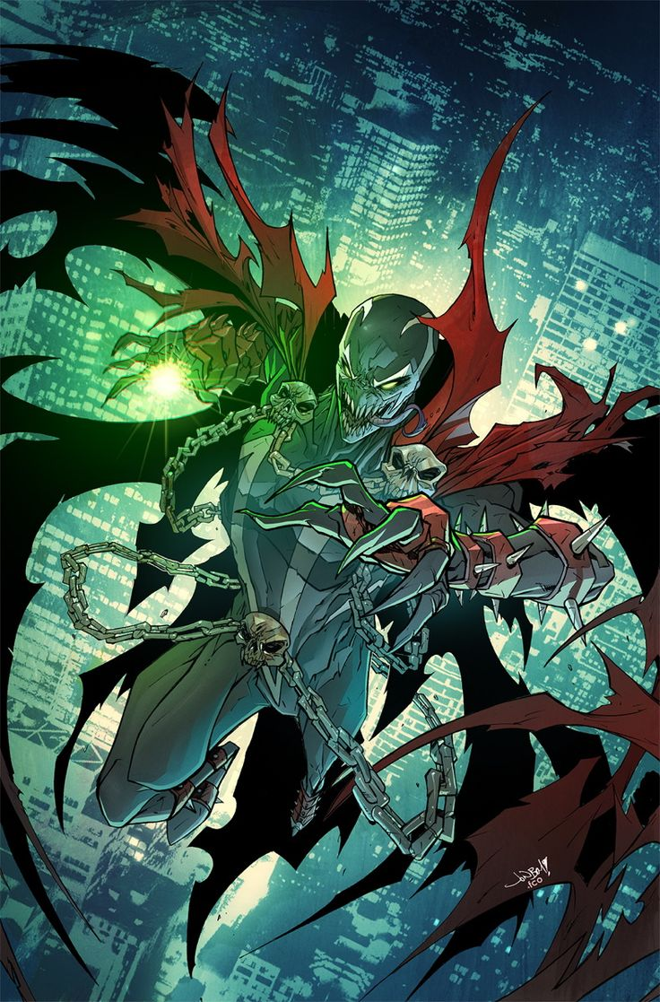 Spawn by JonBoy Meyers, colours by Rico