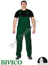 Zielone spodnie ochronne ogrodniczki LH-BISTER