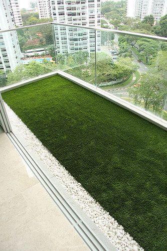 Un pequeño jardín en la terraza