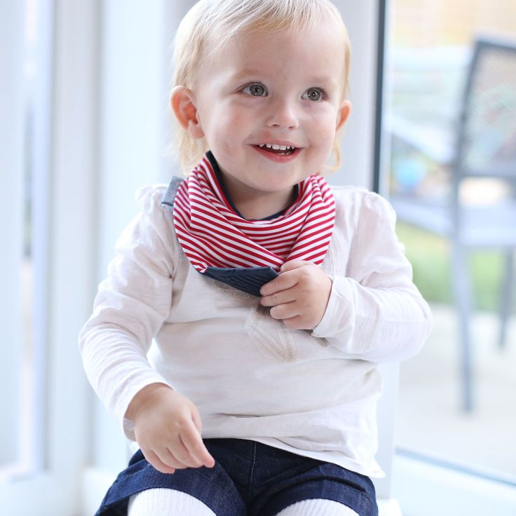 Dribbles be gone with CHEEKY CHOMPERS' NECKERCHEW! available at http://littlem.com.au/product/neckerchew-dribble-bib/ #neckerchew #chewytoy #dribblebib #teethingbaby #bib #teethingtoy