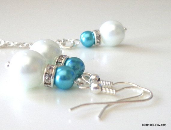 Hey, I found this really awesome Etsy listing at http://www.etsy.com/listing/130621998/turquoise-malibu-blue-bridesmaid-jewelry