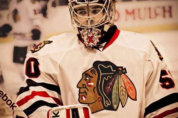 Corey Crawford, Chicago Blackhawks (Carmen Mandato Photography)