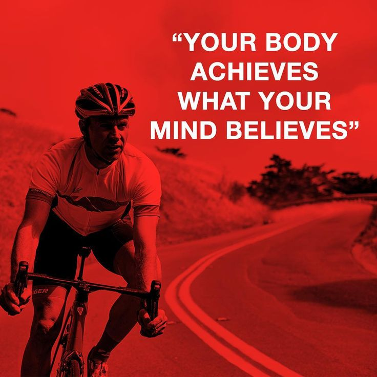 Your body achieves what your mind believes.   RELATED: 9 steps to enjoying a big day in the saddle - http://www.bikeroar.com/tips/9-steps-to-enjoying-a-big-day-in-the-saddle.   [via Jens Voigt] #jensie #jensvoigt #cycling #motivation #believeinyou #youcan