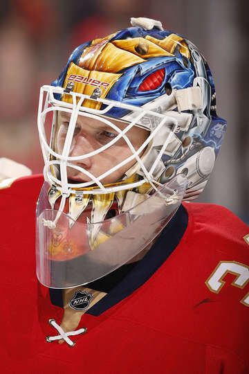 SUNRISE, FL - APRIL 8: Goaltender James Reimer #34 of the Florida Panthers skates on the ice prior to the start of the game against the Buffalo Sabres at the BB&T Center on April 8, 2017 in Sunrise, Florida. (Photo by Eliot J. Schechter/NHLI via Getty Images)