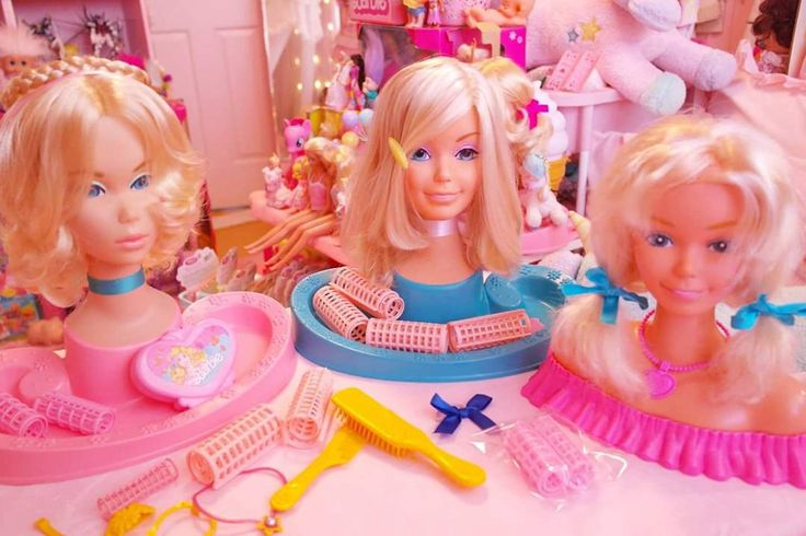 Vintage Barbie Hair Styling Heads! www.CuteVintageToys.com 💖 Hundreds Of Kawaii Vintage Toys From The 80s & 90s! Follow Me & Use The Coupon Code PINTEREST For 10% Off Your ENTIRE Order! 💌 Dozens of G1 My Little Ponies, Polly Pockets, Popples, Strawberry Shortcake, Care Bears, Rainbow Brite, Moondreamers, Keypers, Disney, Fisher Price, MOTU, She-Ra Cabbage Patch Kids, Dolls, Blues Clues, Barney, Teletubbies, ET, Barbie, Sanrio, Muppets, & Fairy Kei Cuteness! 💖