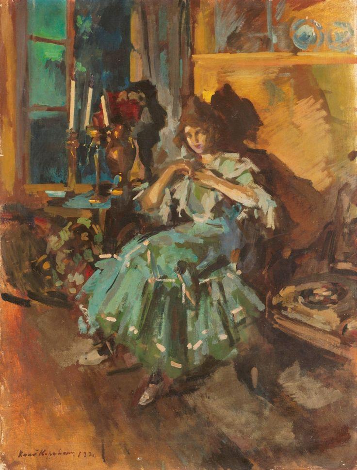 The Athenaeum - Ballerina in a Green Dress (Constantin Alexeevich Korovin - )