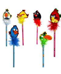 Angry Birds Tüylü Kalem (6 Adet)