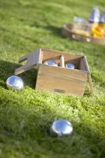 Teak Petanque set  - Outdoor Collection by Design with Vision   www.naturesvision.com.au