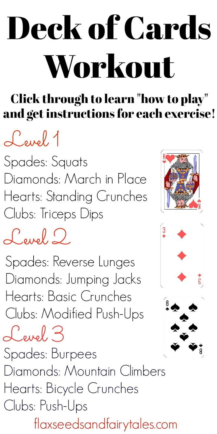 Deck of Cards Workout The Exciting Workout w/ Fast