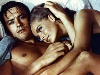 "Alain and Romy, Romy and Alain. Probably the bestlooking couple in french film history. Here from ""La Piscine"", 1968"