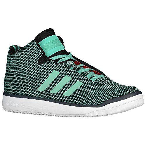 adidas Originals Mens Veritas Mid Bright GreenWhite Sneaker 95 M >>> Be  sure to