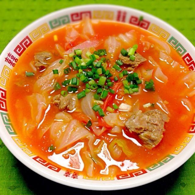 玉子入れるの忘れちゃった 一応家族には「まあまあだね」との言葉をいただきましたf^_^;) ま、いっか! - 214件のもぐもぐ - オヤジ特製「トマト中華スープ」 by tetsu333