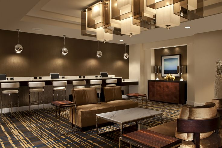 Internet Cafe area @ Hilton McLean Tysons Corner, great for getting some work done or just to relax!
