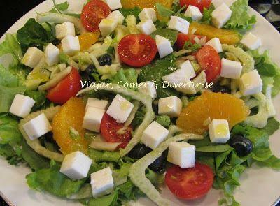 Viajar, Comer & Divertir-se: Salada de Queijo Cabra, Funcho, Laranja e Mirtilos...
