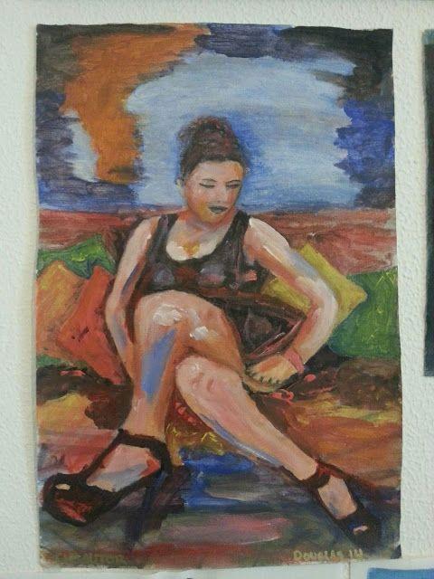 Descuido en el sofá, Douglas Chadiz. douglas chadiz,acrylic on canvas