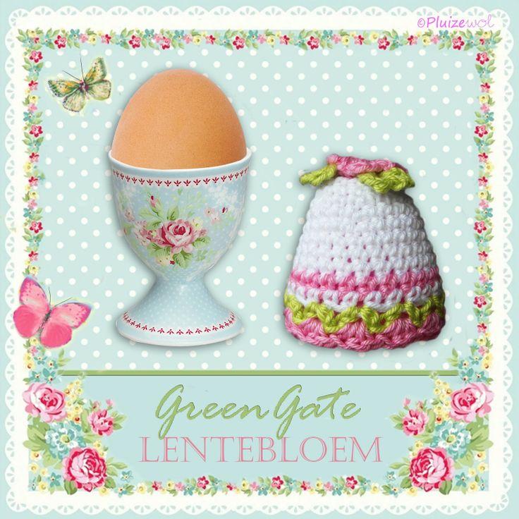 Gehaakte eiermuts en eierdop