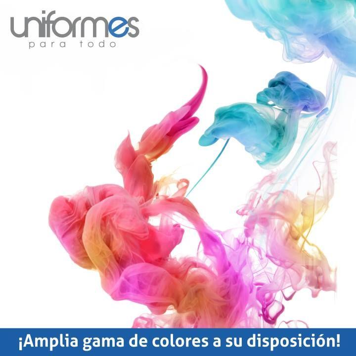 Sabemos la importancia del color en su uniforme por ello contamos con una... #UniformesparaTodo #Colombia #Empresas www.uniformesparatodo.com