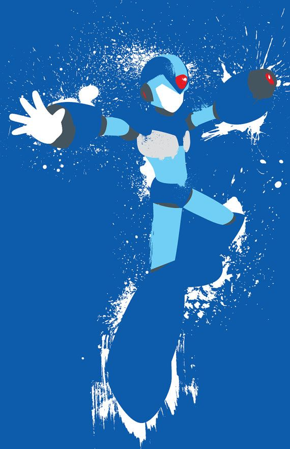 Mega Man X and Zero Splattery Posters by TheDailyRobot on Etsy, $25.00