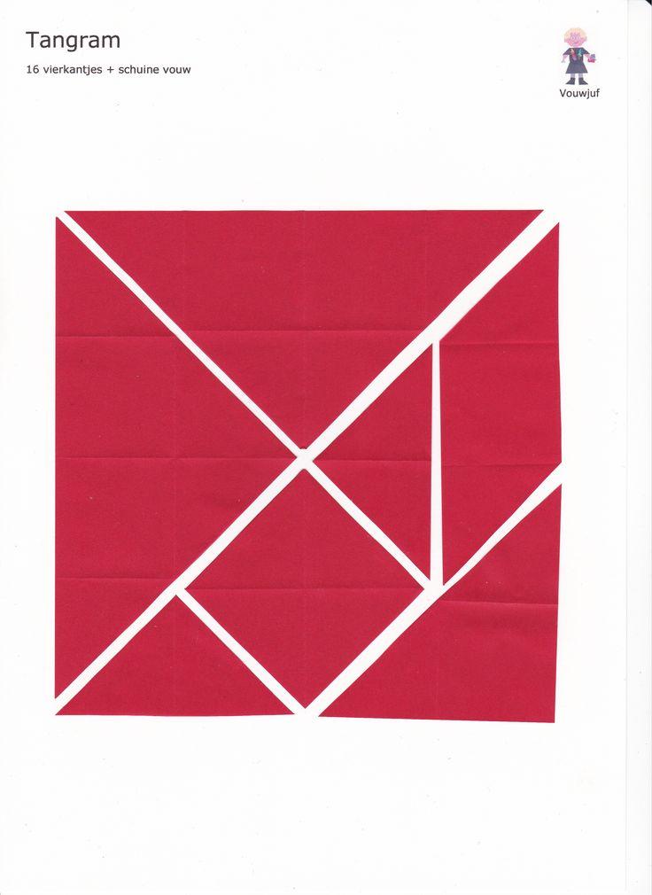 Tangram - 16 vierkantjes