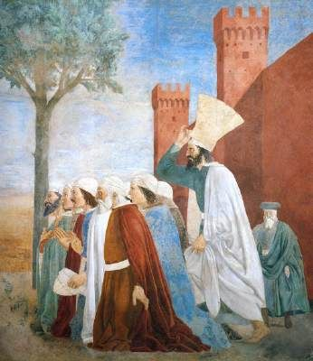 Piero della Francesca - Storie della Vera Croce: Esaltazione della Croce…