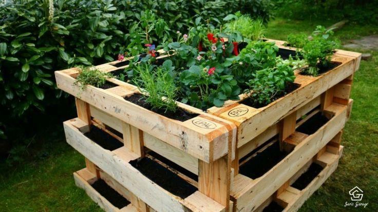 So Funktioniert Es Alles Was Sie Fur Den Bau Ihres Erhohten Palettenbettes Benotigen Selber Bauen Pallet Garden Pallets Garden Pallet Garden Furniture