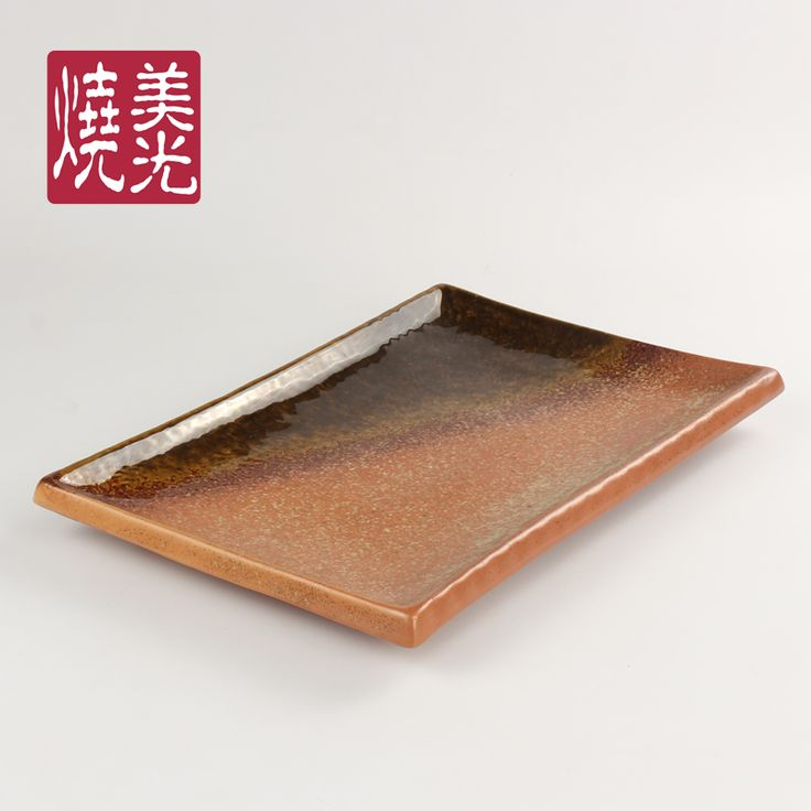 Japanese ceramic tableware&serving tray E572-P-16002  Size: length 16 inch and 18 inch