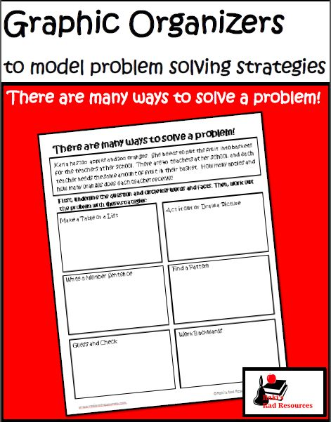 Free Math Problem Solving Graphic Organizers to help students compare and contrast the many ways to solve a problem