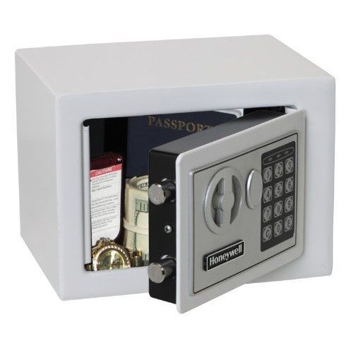Digital Lock Steel Security Fireproof Storage Box Home Safe 0.17 Cubic Ft White #DigitalLock