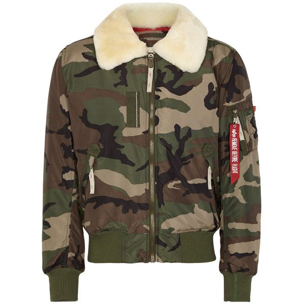 Alpha Industries Injector III Shell Bomber Jacket - Size M (4.111.385 IDR) ❤ liked on Polyvore featuring outerwear, jackets, mens green bomber jacket, mens zipper jacket, mens padded bomber jacket, mens green jacket and mens fur collar bomber jacket