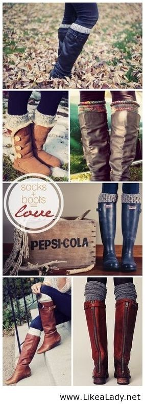 Socks with boots.. I deff need to get some!