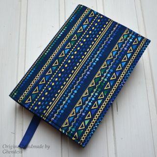 Univerzální obal na knihu - Elegance/modrá I