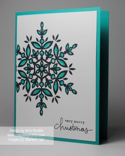 Love my Blendabilities, elegant Christmas card. My blog post has more info: http://www.crazybeyoutiful.com/christmas/festive-flurry-one-layer-card/